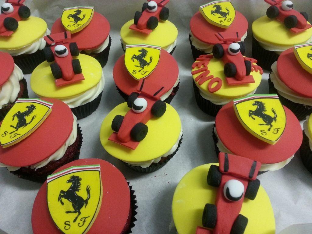 Formula 1 Ferrari Themed Birthday Cupcakes Birthday Party Cake