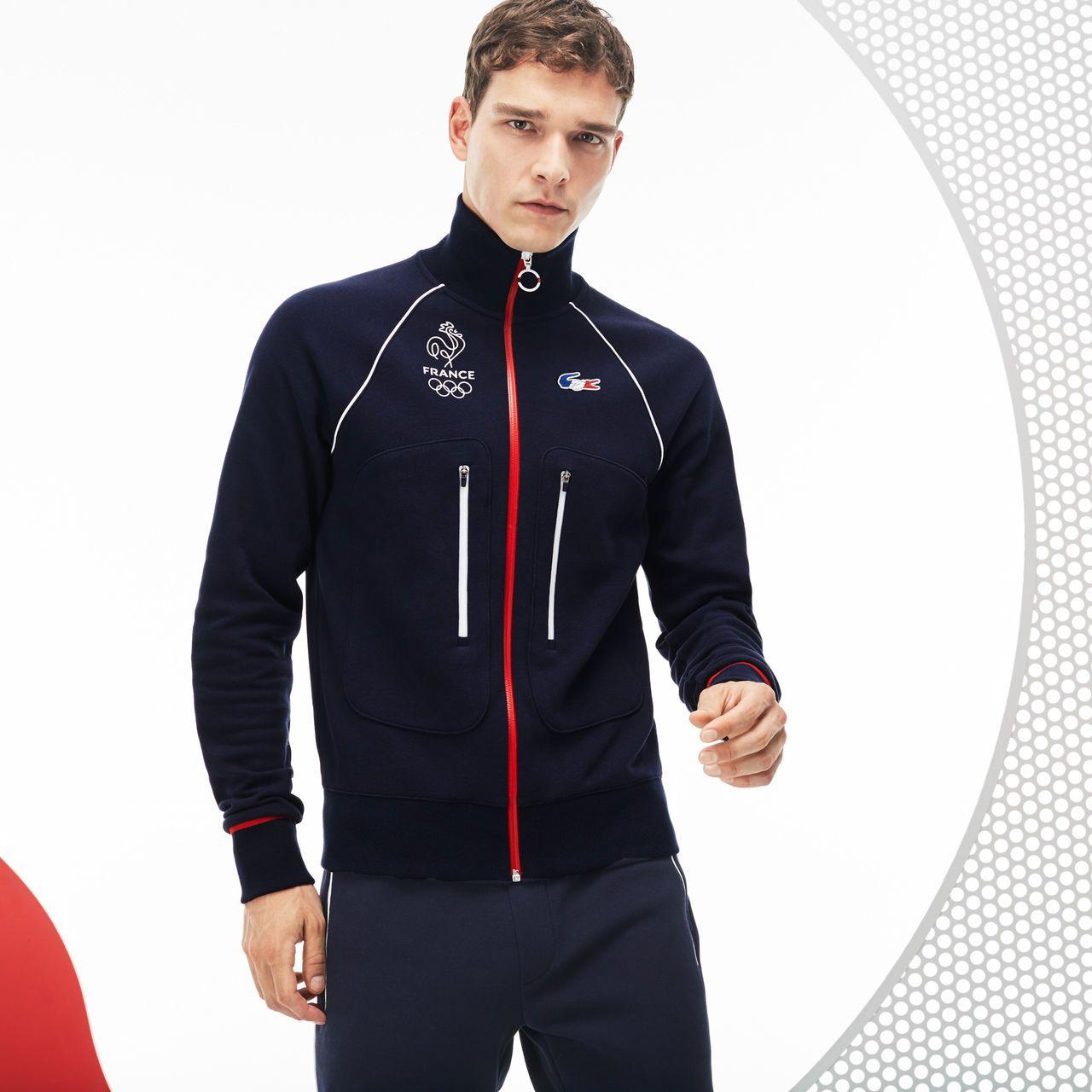 Sweatshirt Zippe Lacoste Sport En Molleton Collection France Olympique Lacoste Survetement Lacoste Lacoste Idees De Mode