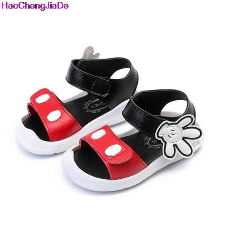1c8b1609e78c Pas cher HaoChengJiaDe Nouvelle D été Bébé Sandales Mode Enfant Dessin  Animé de Mickey Chaussures Pour Filles Garçons Enfants Plage Sandales  Filles ...