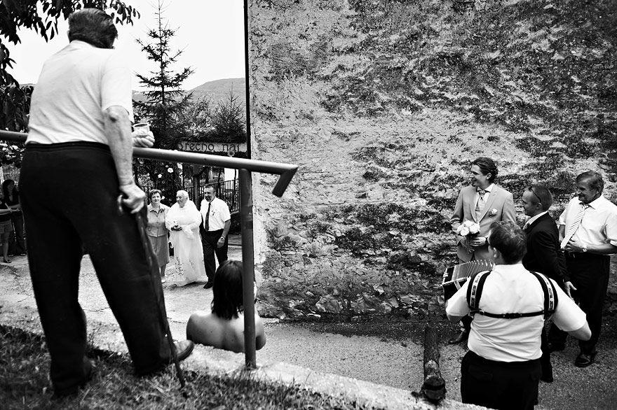 Traditional Slovenian wedding with fake bride, Slovenia