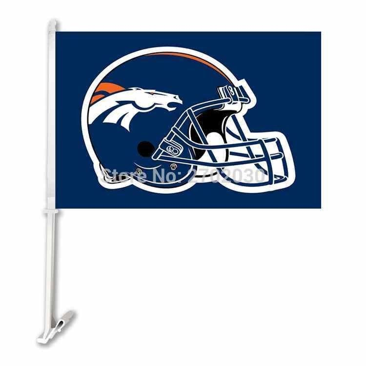 Denver Broncos Double Sided Car Football Flags Banners For Nfl