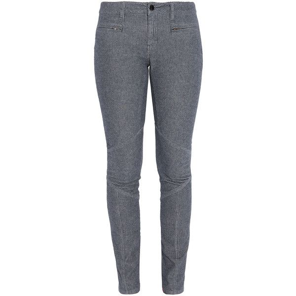VANESSA BRUNO ATHE Zip Front Biker Jean ($58) ❤ liked on Polyvore featuring jeans, pants, bottoms, calças, pantalons, skinny biker jeans, super skinny jeans, skinny leg jeans, skinny jeans and biker style jeans