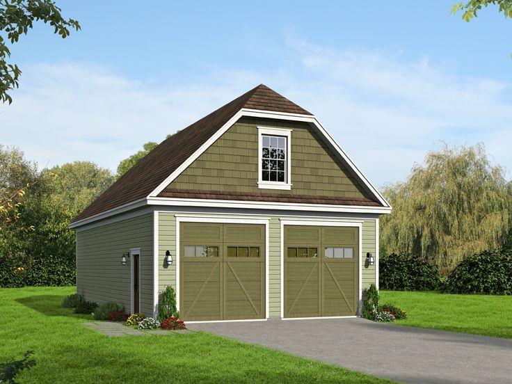 062g 0048 Rv Garage Plan With Double Rv Bay Rv Garage Plans Rv Garage Garage Plan