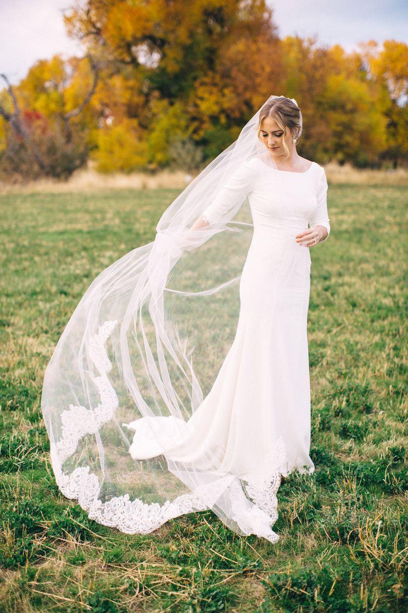 Stunning 58 Wedding Veils You Will Fall In Love With Wedding Veil Styles Wedding Dress Long Sleeve Stylish Wedding Dresses [ 1200 x 800 Pixel ]