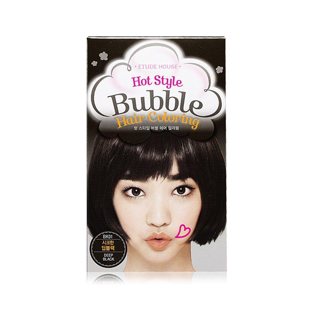 Etude House Hot Style Bubble Hair Coloring BK Deep Black