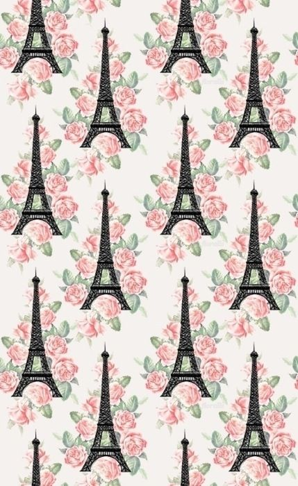 Pin By Aisha Vargas On Misc Images Graphics Paris Wallpaper Eiffel Tower Pattern Wallpaper