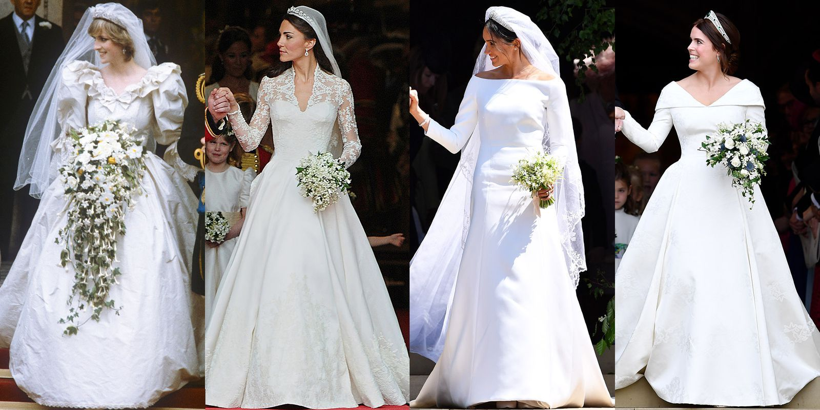 how princess eugenie s wedding dress compares to meghan markle kate middleton and princess diana s gowns princess kate wedding dress meghan markle wedding dress kate wedding dress meghan markle wedding dress
