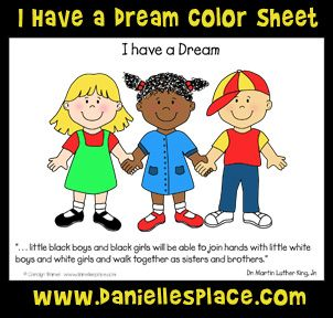 I Have A Dream Martin Luther King Jr Coloring Sheet From Daniellesplace