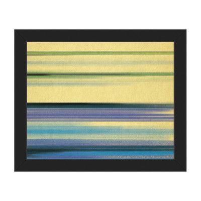 Click Wall Art Horizontal Vapor Tango Framed Painting Print on ...
