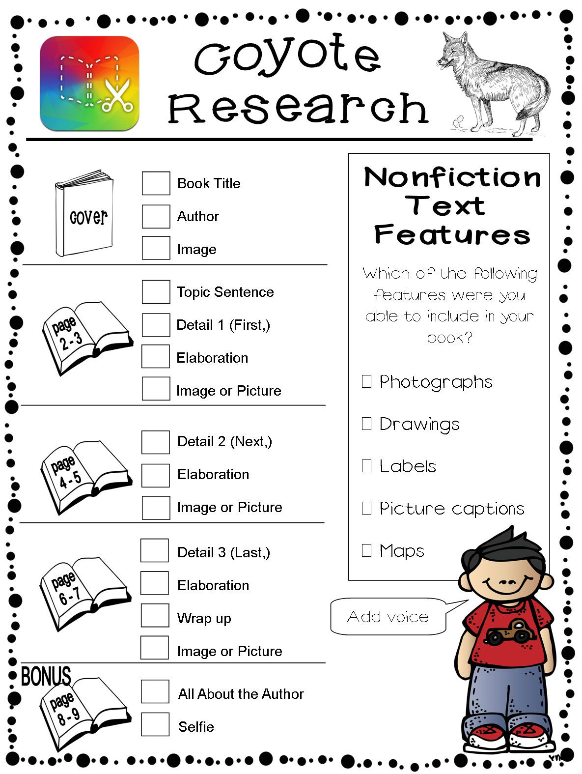 Informational Research And Book Creator With Images Book