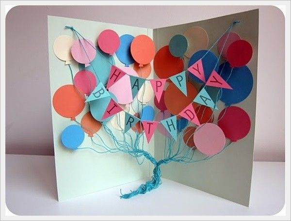 37 Homemade Birthday Card Ideas and Images – Easy Handmade Birthday Card Ideas