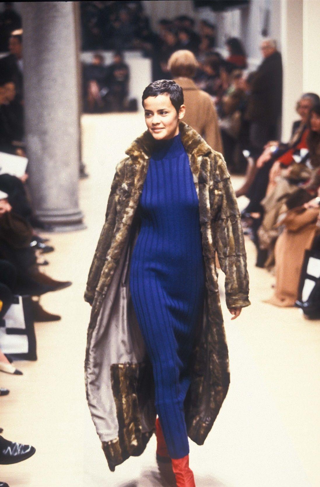 1996 Fendi Furs Fashion Magazine Print Ad: Nadege Du Bospertus Fendi F/W 1996/1997