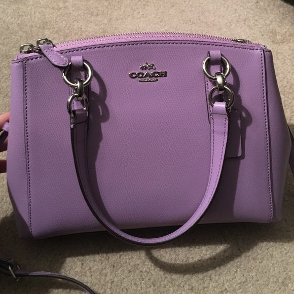 COACH Mini Christie Carryall Lilac Cross Body Bag Brand new Coach bag that was…