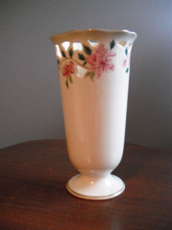 Lenox Vases With Gold Trim Retired Lenox Vase 24k Gold Trim Pink