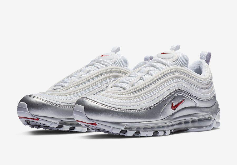 Nike Air Max 97 QS AT5458 100 'WhiteMetallic Silver' sz 4