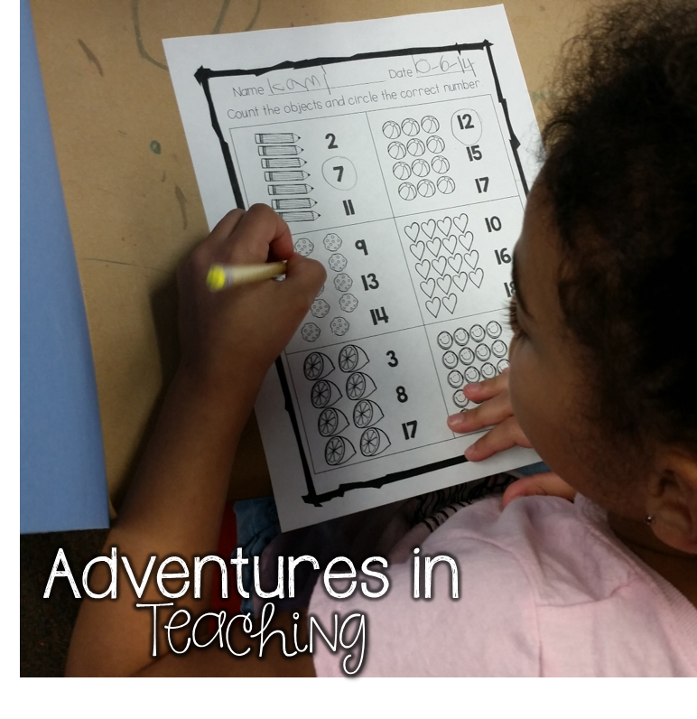 First Grade Math: counting objects to 20