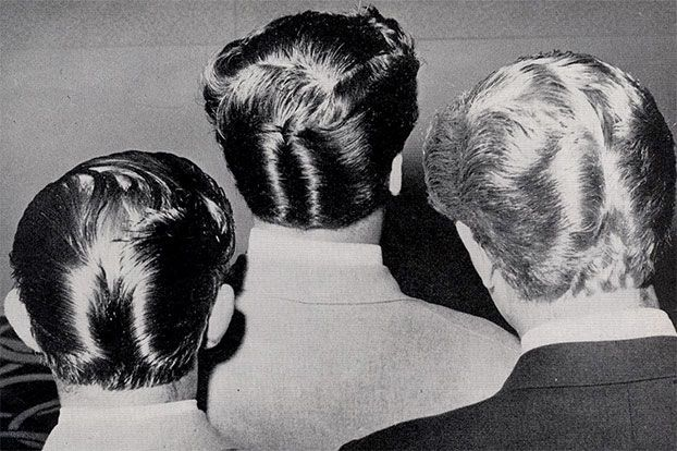 D A Hairstyle Ducktail 1950s Ducktail Haircut Ducktail Vintage Hairstyles
