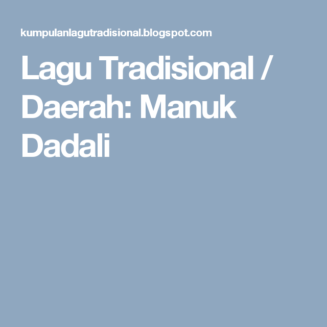 Lagu Tradisional Daerah Manuk Dadali Boarding Pass