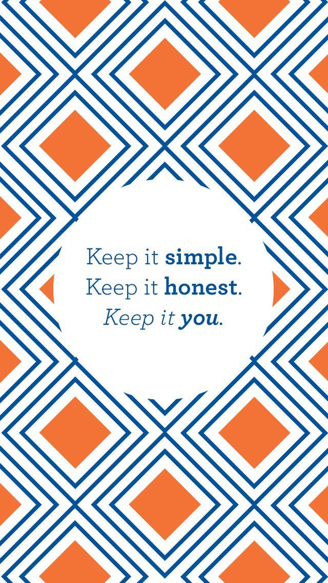 Orange navy Tile pattern \'Keep It Simple\' iphone phone background ...