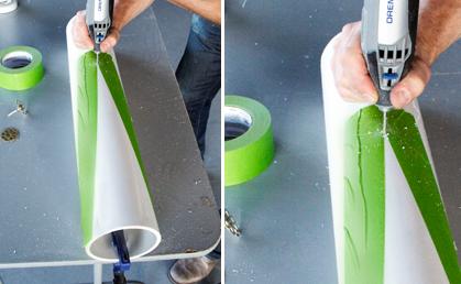 Creare una lampada con il riciclo creativo dei tubi in pvc for Bricolage creativo