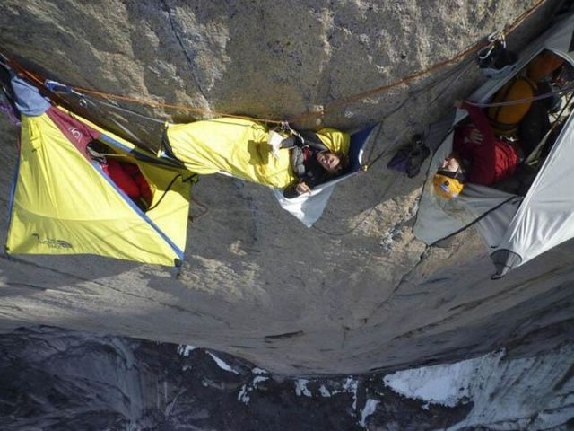 These hanging tent systems are designed for rock climbers who spend multiple days and nights on a big wall climb. These hanging tent systems are designed ... & Sleepover! Why wonu0027t anyone come hang out with us? #extreme ...