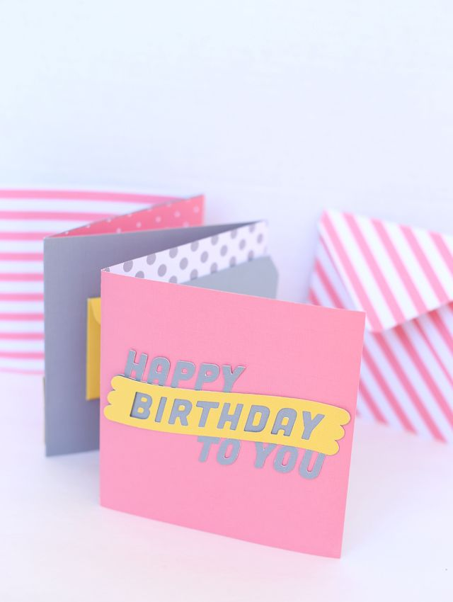 Learn How To Make These Cute Envelope Birthday Cards With A 1 2 3 Punch From We R Memory Keepers My Sisters Suitcase