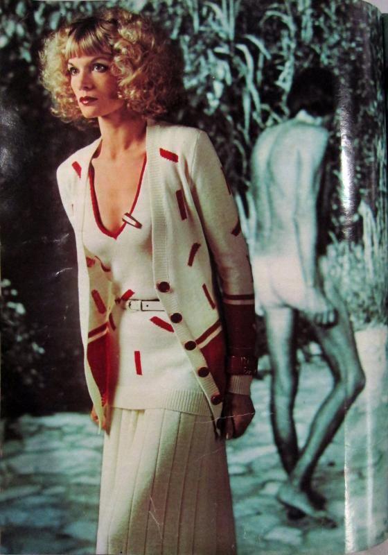 1974 vintage fashion style color photo print ad model ...