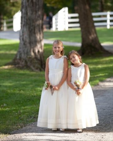 90be637ebef These little ladies sported Dessy Girl dresses from Bella Bridesmaid