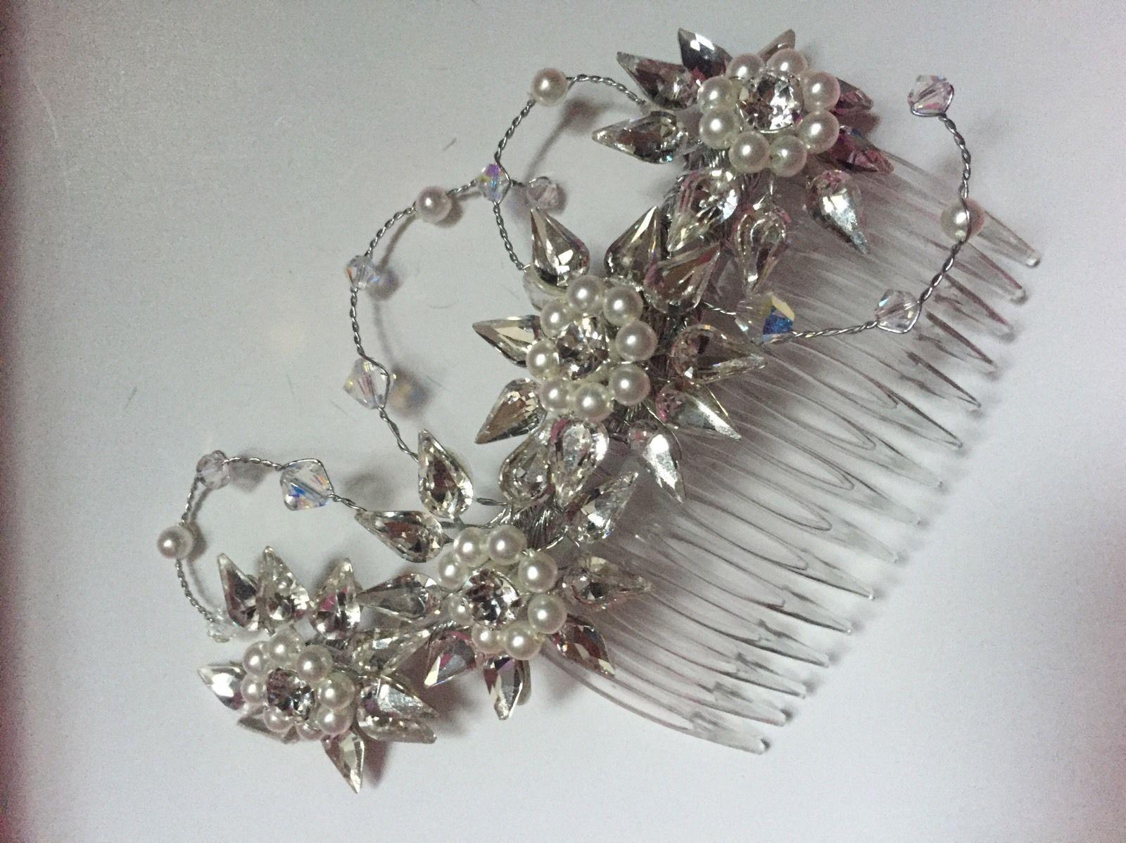 swarovski hair comb | ebay | tiaras, tocados y velos | pinterest