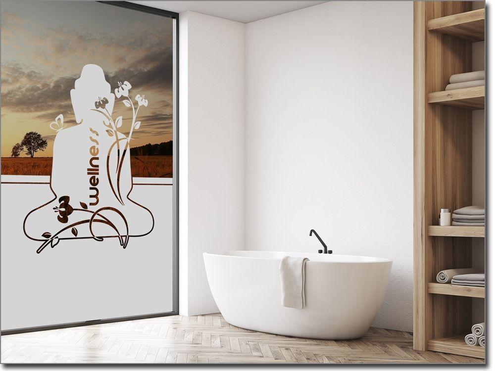 Badezimmer Fensterfolie, fensterfolie mit buddha für bad | sichtschutzfolie für badezimmer, Design ideen
