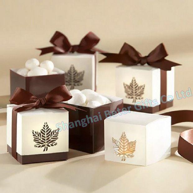 192 pcs Brown da folha da queda caixa Favor BETER-TH012 frete grátis    http://shop140810574.taobao.com
