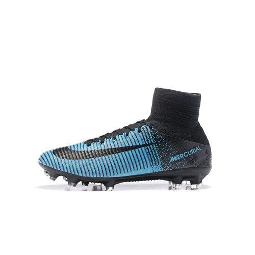 huge selection of 39d23 4e081 Nike Mercurial - Beste Nike Mercurial Superfly V FG Fußballschuhe Blau  Schwarz