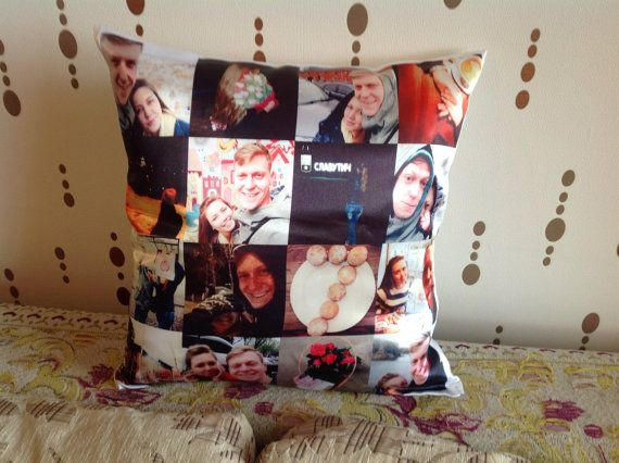 Custom photo collage pillow picture collage by KvitkaPillows
