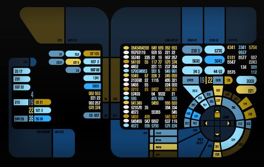 LCARS screens done for Star Trek Online  These were used to