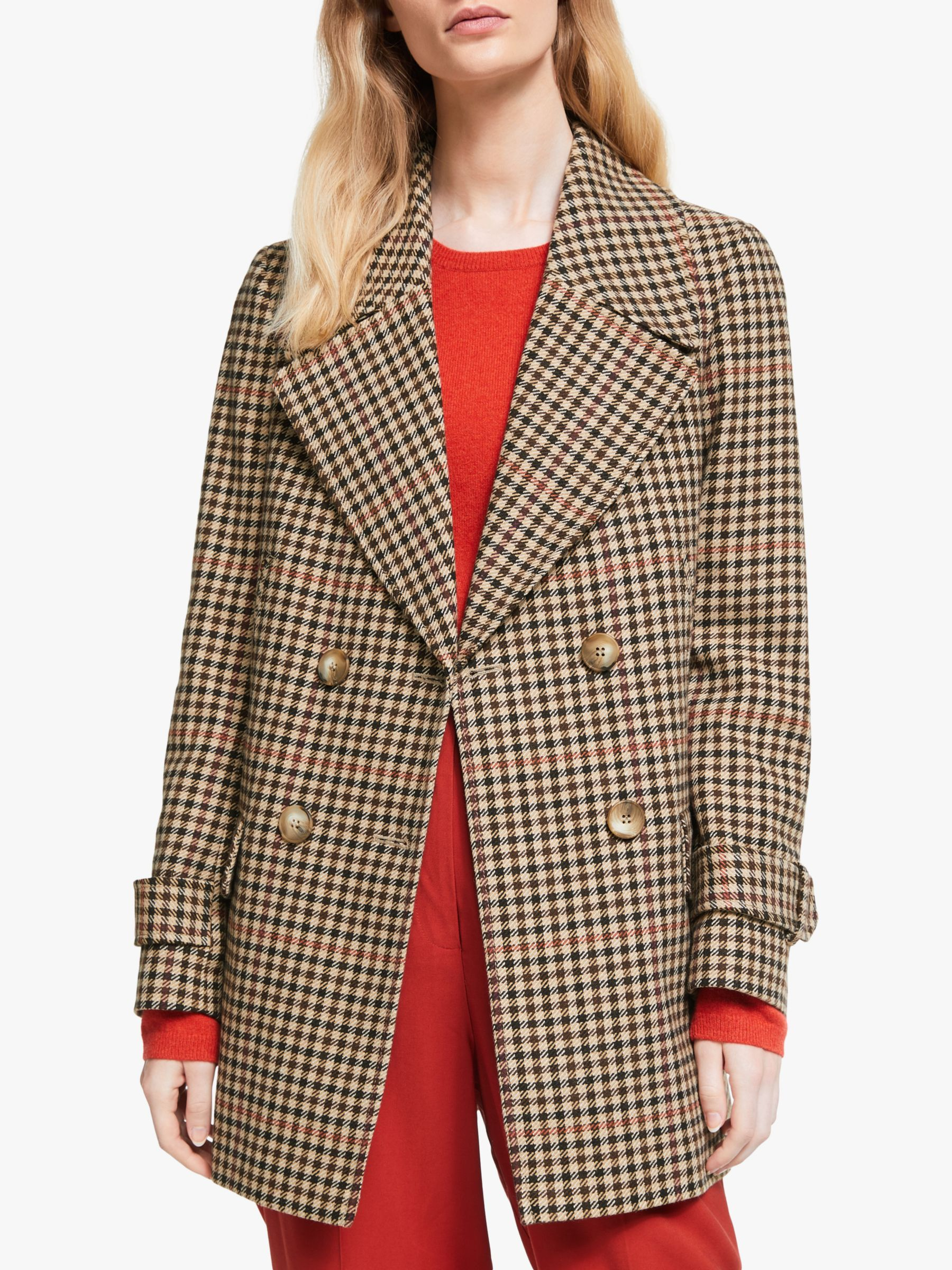 John Lewis Partners Double Breasted Swing Pea Coat