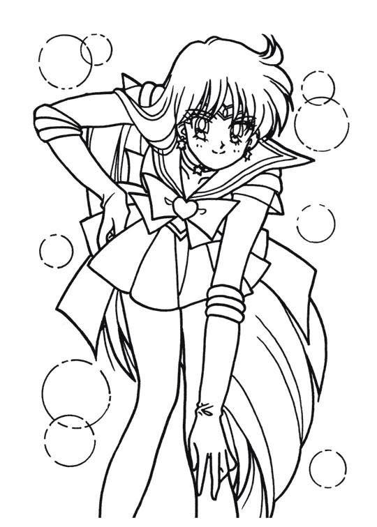 Sailor Moon Series Coloring Pages: Sailor Mars   Sailor Moon ...