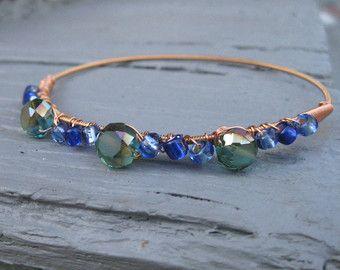 Guitar String Bracelet With Dark Blue By Deliriousbluejewelry