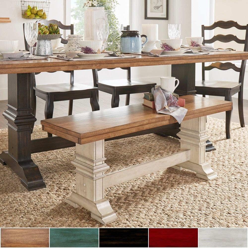 Give Your Dining Room A Beautiful And Rustic Air With This Elegant Wood Bench Mix Up Seating Arrangement Switch Out Two Side Chairs For An