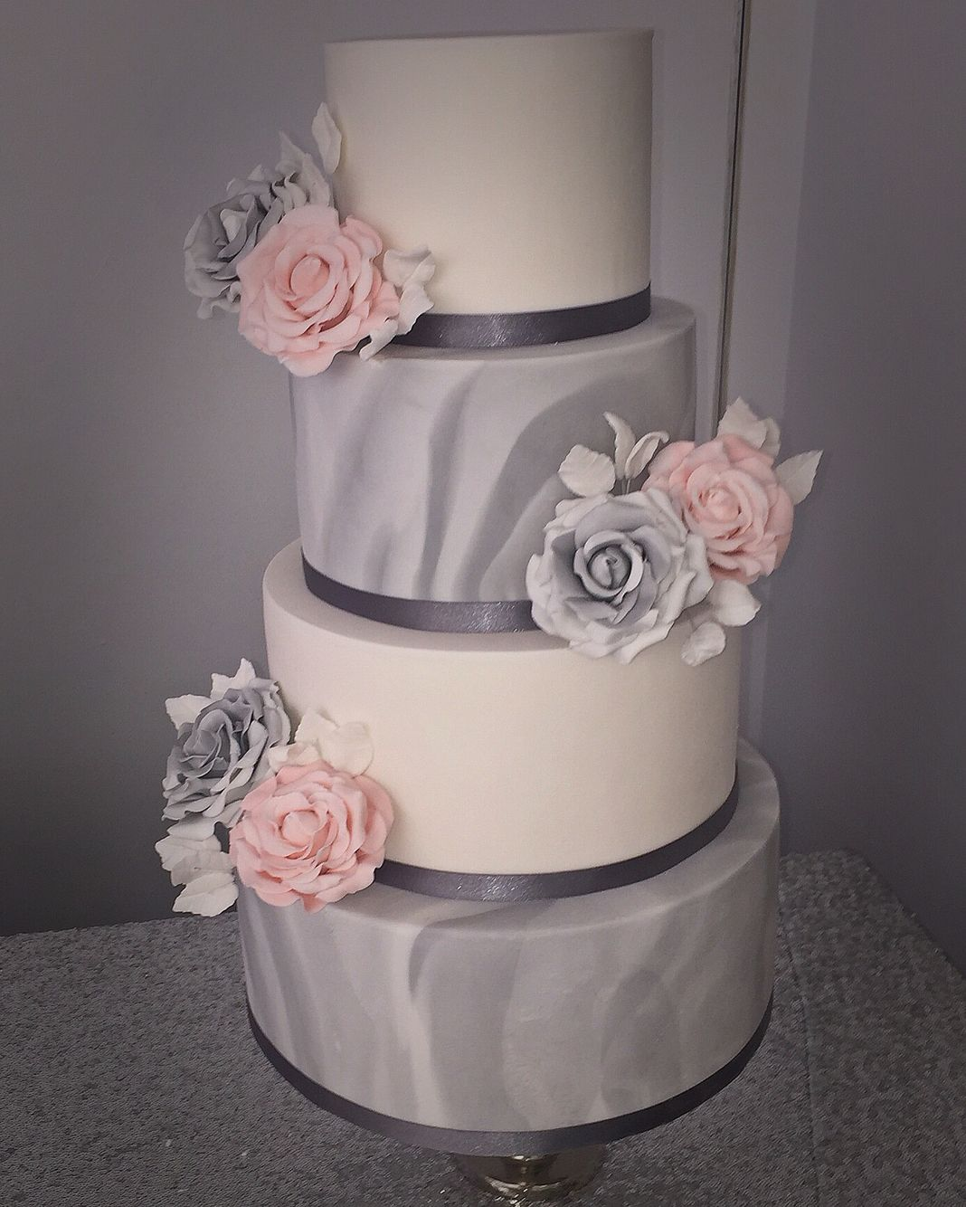 Indian Weddings Inspirations Silver Wedding Cake Repinned By