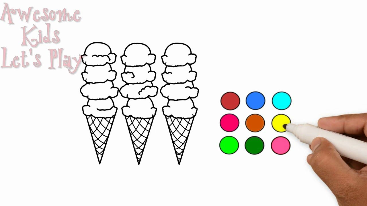 Ice Cream Coloring Pages | Delicious Ice Cream | Painting ...