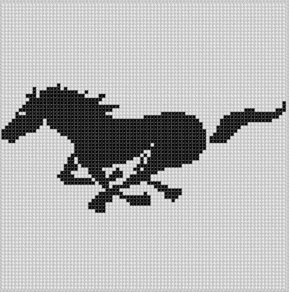 Running Horse Cross Stitch Pattern | Bordado de punto de cruz ...