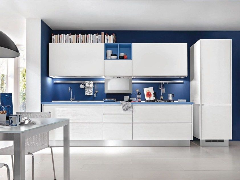 Cucina in legno senza maniglie LINDA   Cucina senza maniglie by ...