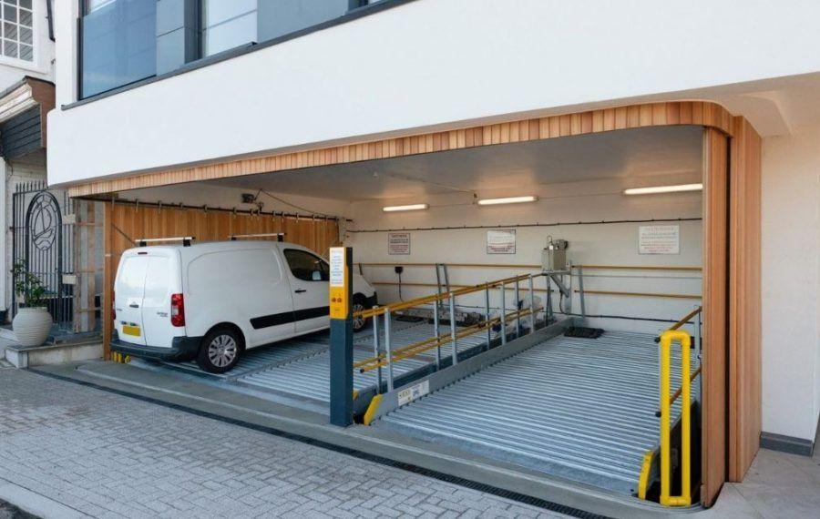 Elevating door aesthetics for car lift garages Sliding