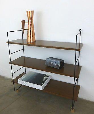 50er 60er Regal Regalsystem Art/Typ String wall shelf mid - designer mobel bucherregal