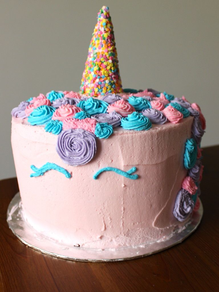 How To Make A Unicorn Cake Without Fondant With Images Cakes