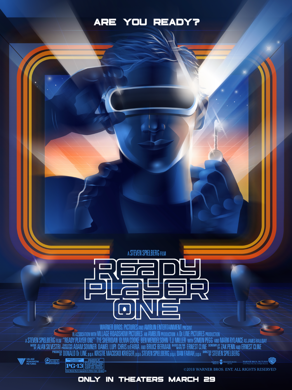 Warner Bros Pictures Ready Player One Poster Posse Ready Player One Ready Player One Movie Ready Player One Trailer