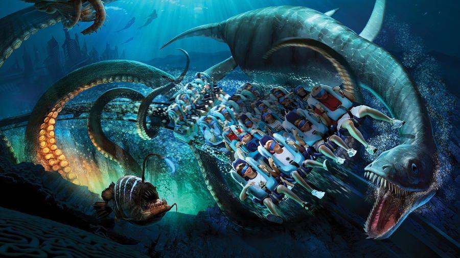 Kraken montanha russa SeaWorld Orlando