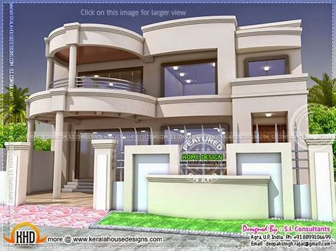 Stylish Indian Home Design And Free Floor Plan In 2020 Modern House Plans House Design House Front Design