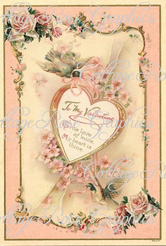 My Hearts Desire Vintage Valentine download Blush Large