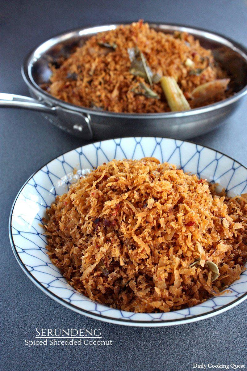 Serundeng Spiced Shredded Coconut Recipe Coconut